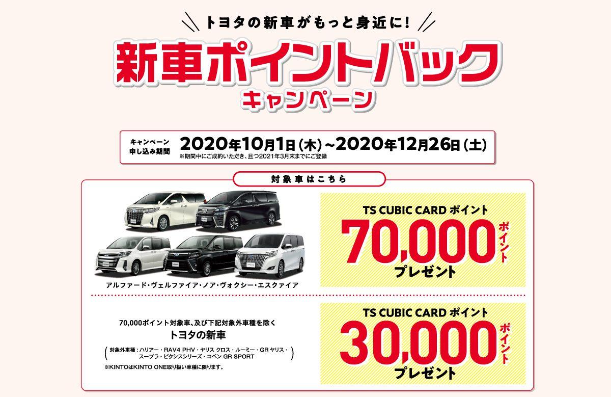 新車ポイントバックキャンペーン開催!